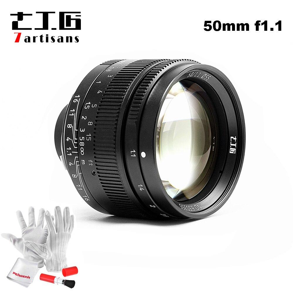 7 artisans 50mm F1.1 M Mont Fixe Objectif pour Leica M-Caméras à Monture M-M M240 M2 M4 M4P m5 M6 M7 M8 M9 M9P M10