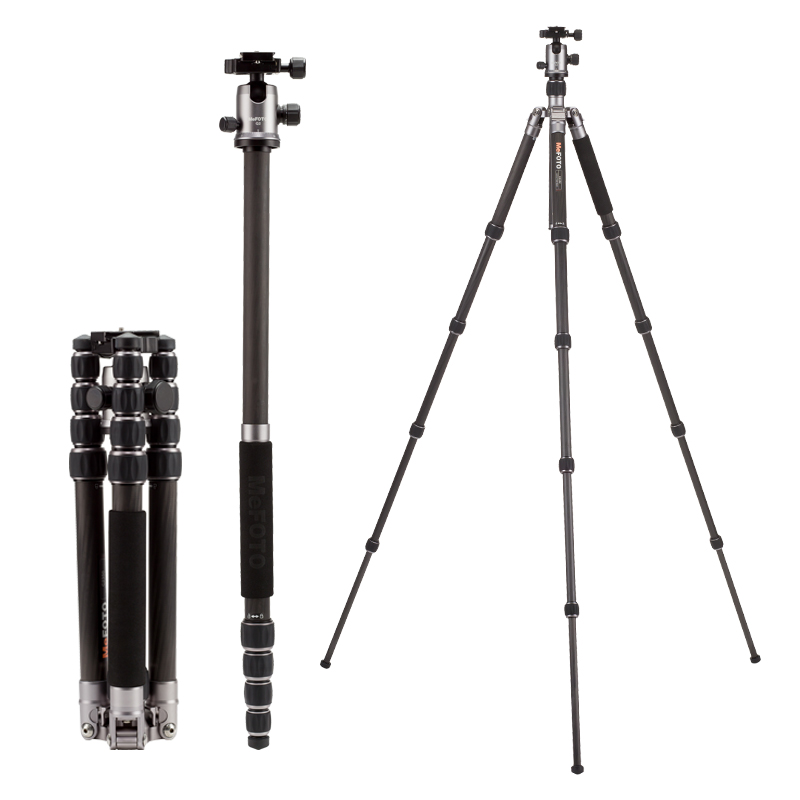 MeFOTO C2350Q2 Tripod Carbon Fiber Tripods Camera Monopod Q2 Ball Head 5 Section Carry Bag Max Loading 12kg DHL Free Shipping in Tripods from Consumer Electronics