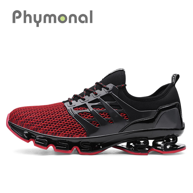 80923f6db568 Phymonal Red Running Shoes Sneakers Men Women Trending Mesh Breathable  Athletic Sport Shoes Male Ladies Jogging Plus Size New 31