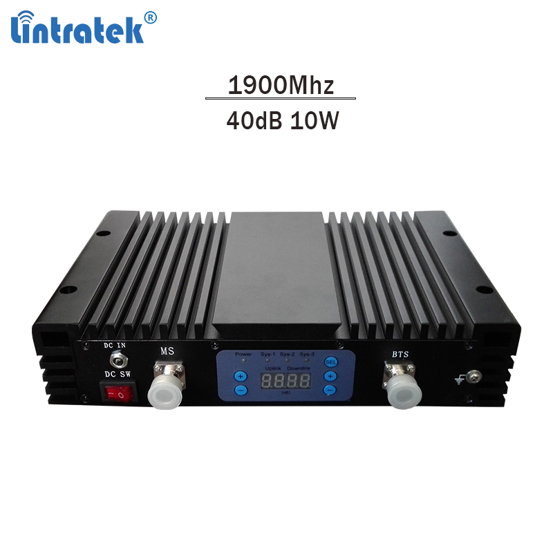 Répéteur GSM Lintratek 90dB amplificateur de Signal Mobile 3G 1900 Mhz avec amplificateur LCD puissant #8.9