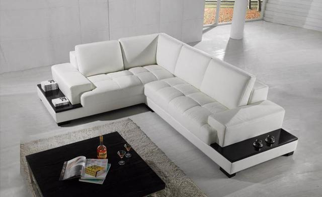 US $1769.0 |2013 Modern Recliner sofa Set made with genuine leather Corner  Sofa with LED light storage sofa set living room furniture LC9111-in Living  ...