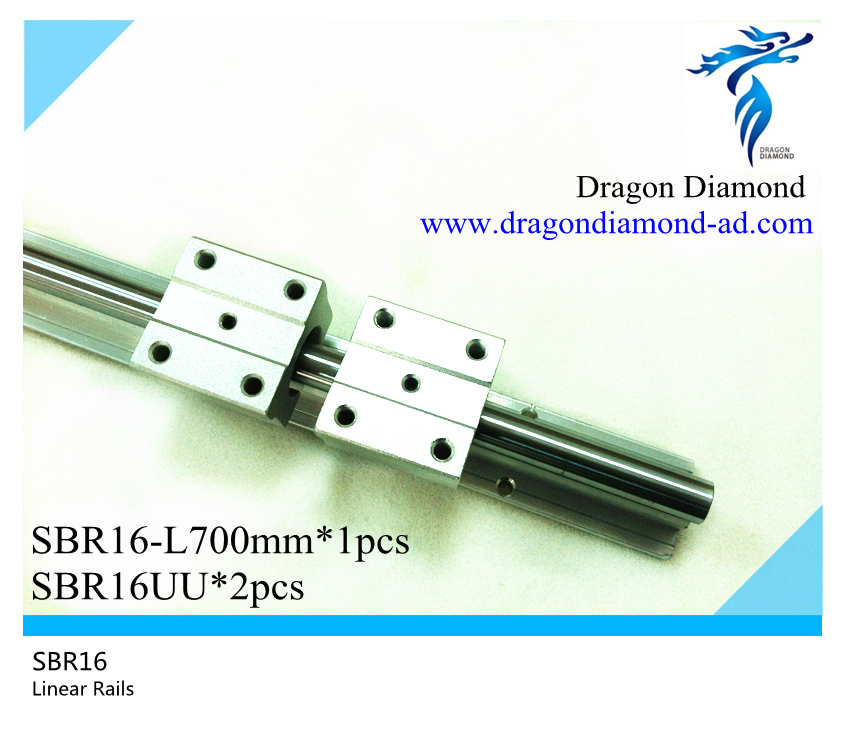 ФОТО 1pcs linear rails slide support SBR16 -700mm rails+2pcs SBR16UU Linear Slide Bearing blocks For CNC Router