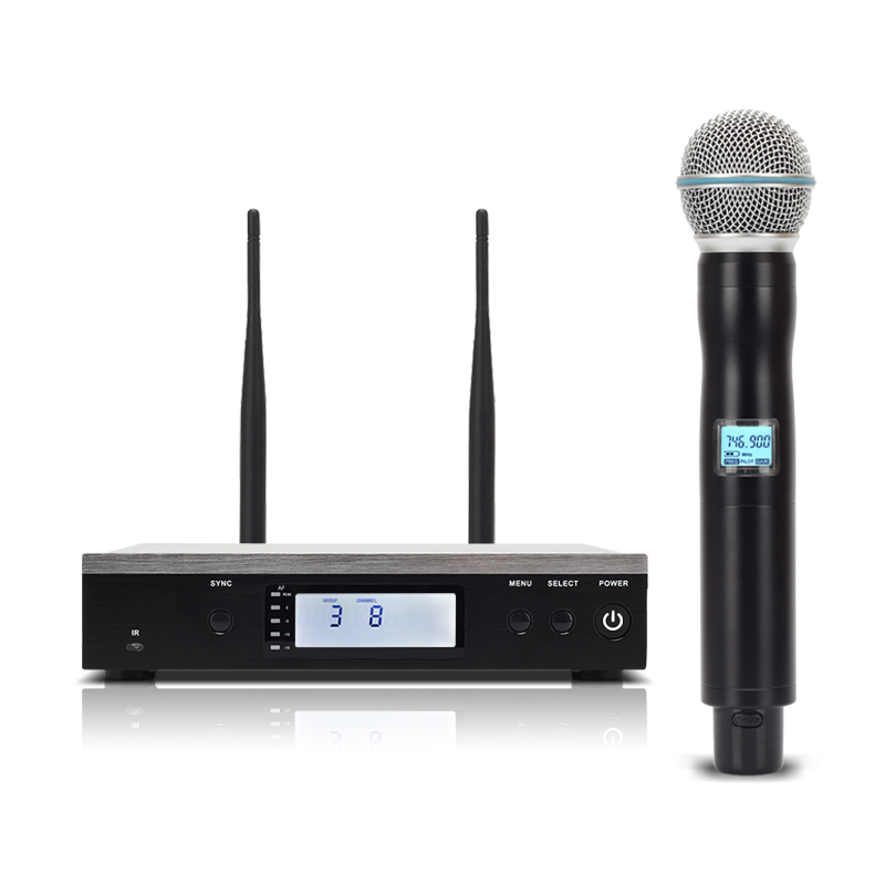 Top Quality! Professional True Diversity Single Handheld Wireless Mic Microfone UHF Wireless Microphone System Perfect for Stage