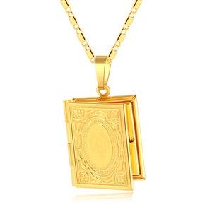 Image 5 - Gold Farbe Islam Allah Muslimischen Halskette Quran Koran Buch öffnende Box Anhänger Mit Kette Muhammad Religion Schmuck Geschenk