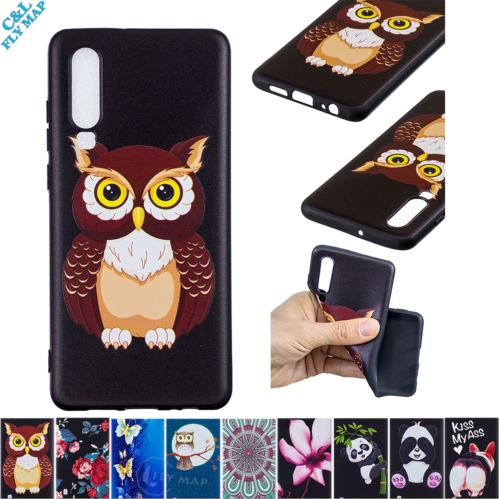 Emboss Case for Huawei P30 ELE L09 L29 AL00 Soft Phone Cover for Huawei P 30 ELE-L09 ELE-L29 ELE-AL00 Silicone Back Case Capa