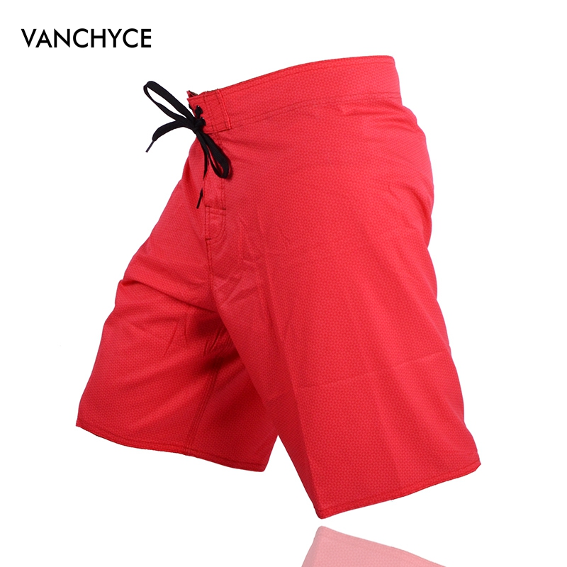 VANCHYCE Summer Swimwear   Shorts   Men's Red Solid Color Print   Short   Quick-Drying Lightweight Comfort   Board     Shorts