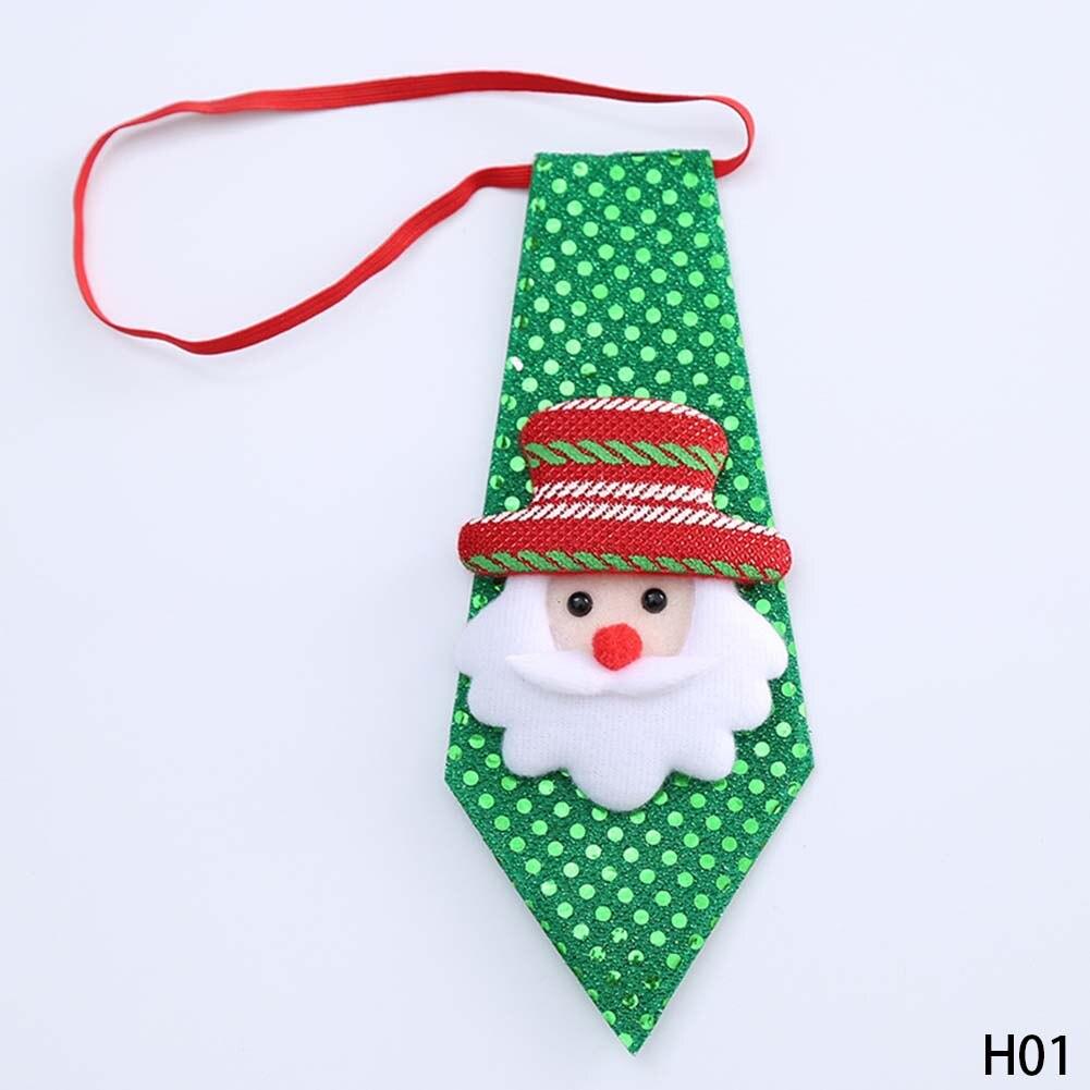 2017 Christmas Children Tie Santa Claus Snowman Reindeer Bear Tie Christmas Decoration For Home Xmas Decoration Ornaments