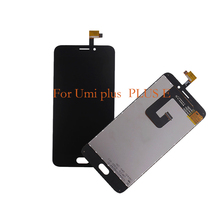 купить 100% new for UMI plus LCD display touch screen mobile phone components,  for UMI plus E screen LCD replacement repair parts по цене 1358.64 рублей