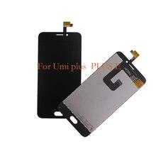100% nuevo para UMI plus LCD pantalla táctil del teléfono móvil componentes, para UMI plus E pantalla LCD piezas de repuesto de reparación