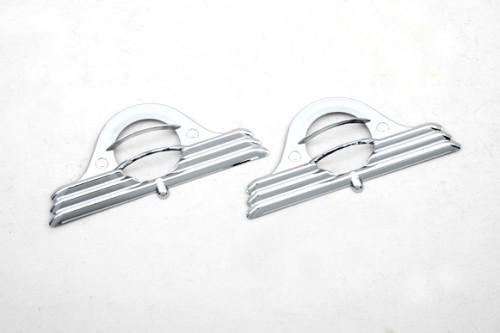 Neue Kostenloser versand Chrome Side Marker Licht Abdeckung für Range Rover HSE (L322) 02-10