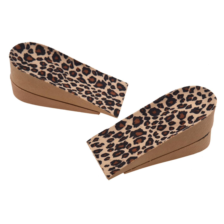 4 x Sole Heel Pad PVC Leopard Growing for Women Men + 4.5cm uncanny x men volume 4