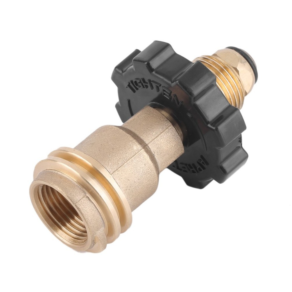 Universal Fit Propane Tank Adapter POL To QCC1 Wrench To Hand Tighten Gas Tank Connector Male Pipe Thread X Pol Fitting