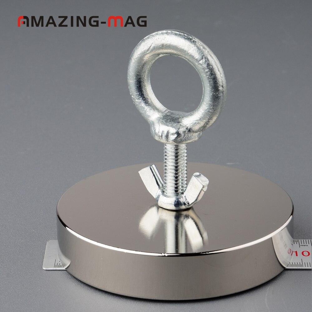 500 KG Big Forte Aimant De Pêche Sauvetage Néodyme Aimant D97 * 20mm Treasure Hunter Imanes Matériau Magnétique Puissant Base - 4