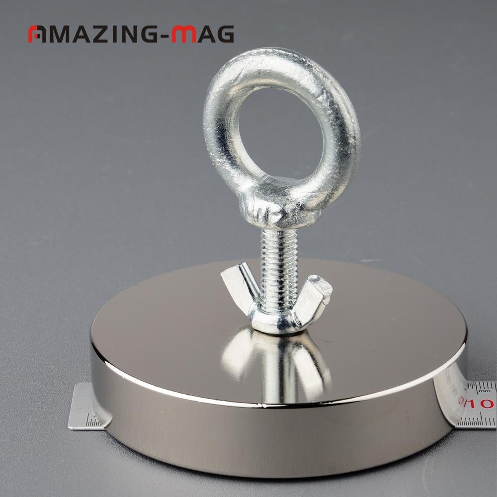 420Kg 75mm Salvage Neodymium Recovery Magnet Treasure Hunting Fishing Magnet