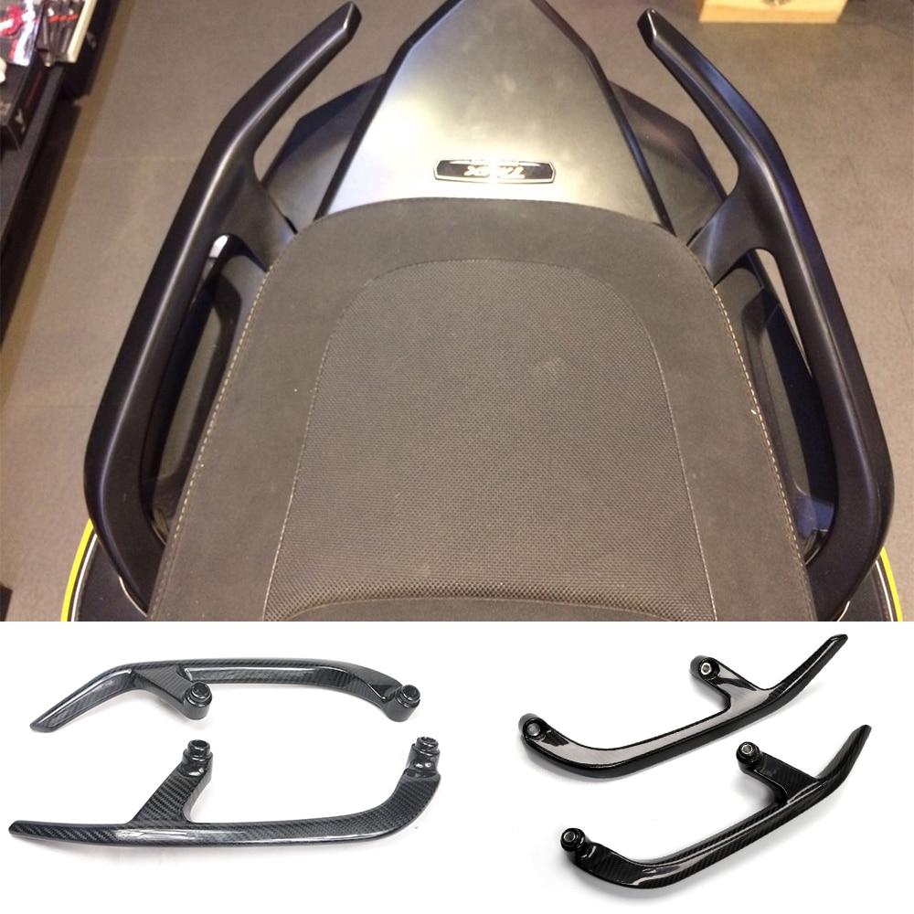 Motorcycle Accessories Carbon Fiber Rear Handle Bars Rear Passenger Seat Hand Handle Grab Bar For Yamaha Tmax530 XP530 2012-2015 for ktm 390 duke motorcycle leather pillon passenger rear seat black color