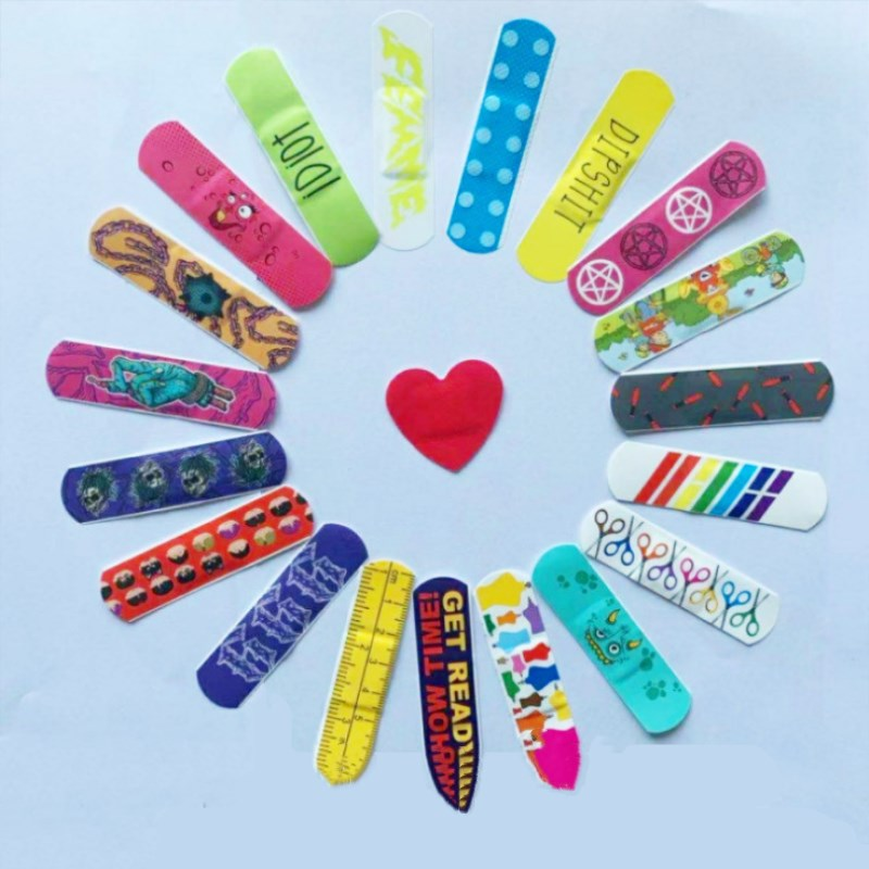 20 Pcs Waterproof Breathable Cute Cartoon Band Aid Hemostasis Adhesive Bandages First Aid Emergency Kit For Kids Children