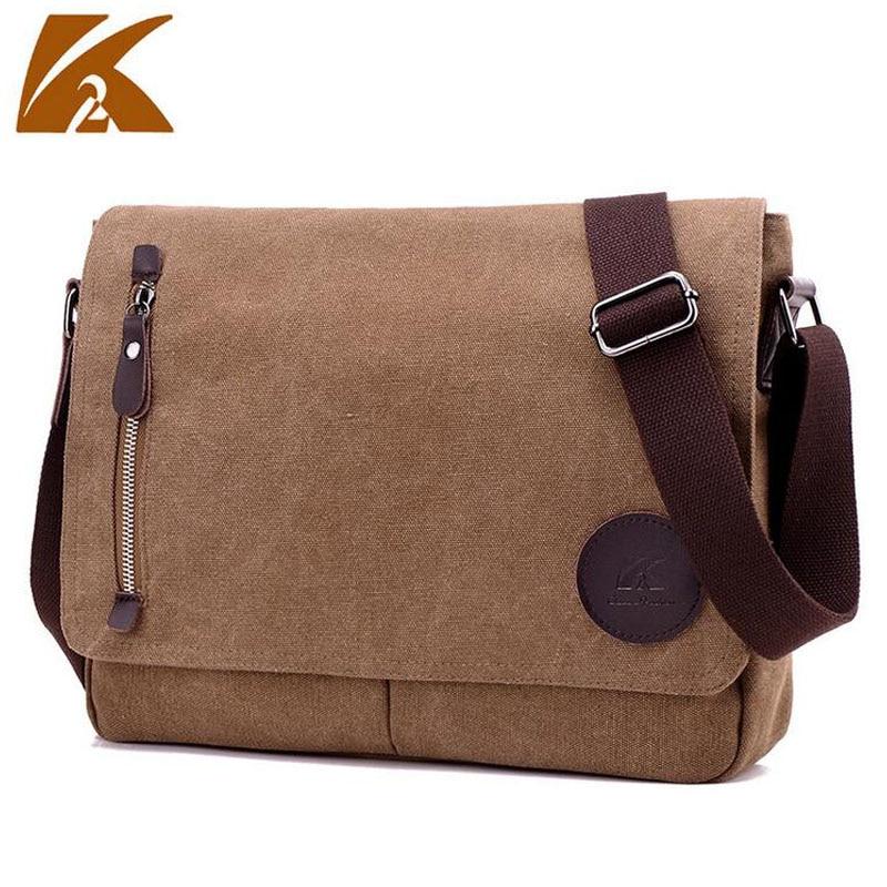 KVKY Men's Vintage Canvas Messenger Bags Casual Military Satchel Shoulder Bag Travel Handbag Business Crossbody School Bag B301 цена