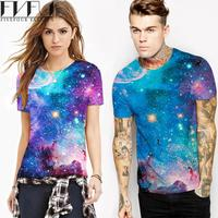 New Style T Shirt Summer Women Men T Shirt Couples Tee Unisex Blue Galaxy 3d Print