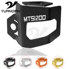 For DUCATI Multistrada 1200 Enduro Motorcycle Rear Brake Fluid Reservoir Guard Cover Protect MTS 1200 S цена