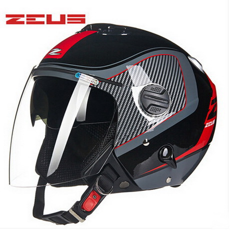 Taiwan ZEUS Half Face motorcycle helmet spring autumn ABS ZS202FB double-lens motorbike helmets electric bicycle Safety helmets