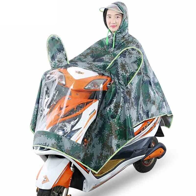 Offre spéciale Oxford tissu PVC imperméable pour vélo moto 1 personne Poncho adulte à capuche imperméable vêtements de pluie imperméables à l'eau en plein air