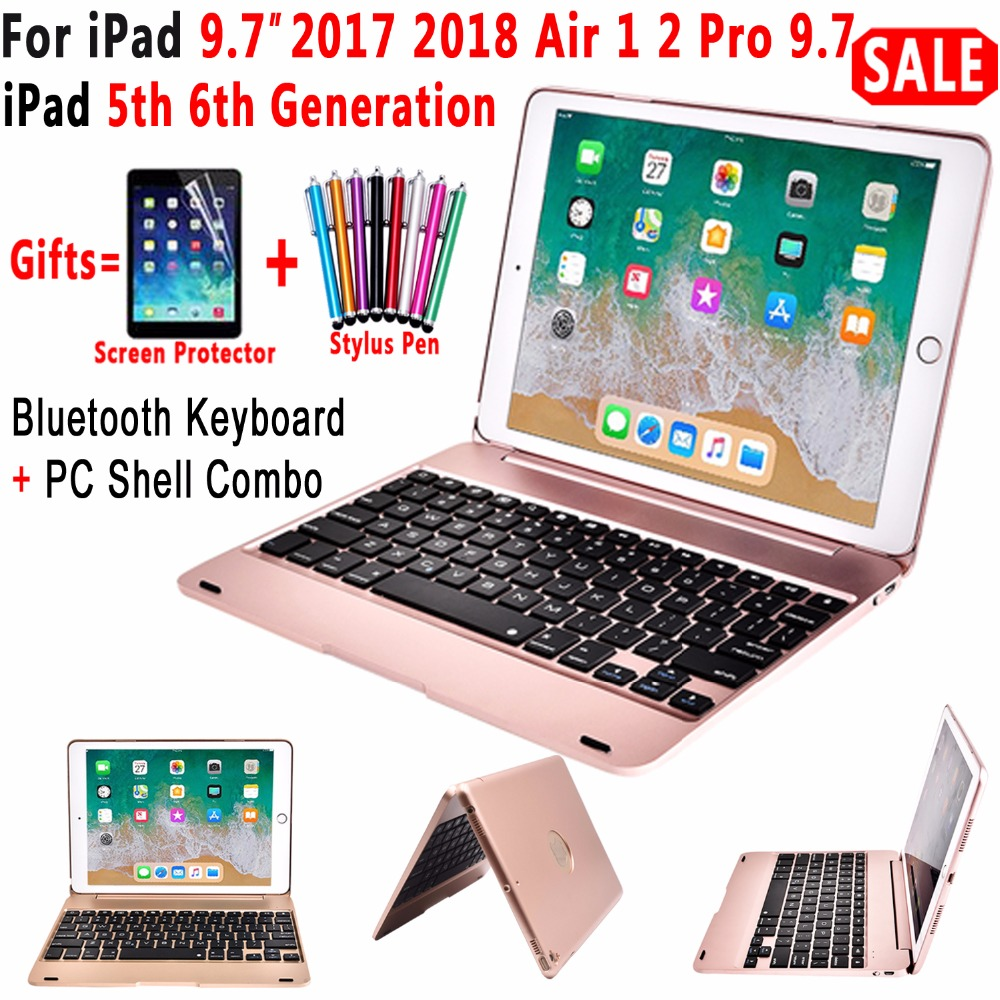 Superior Flip Cover para Apple nuevo iPad 9,7 De 2017 de 2018 5th 6th generación teclado Bluetooth inalámbrico para iPad aire 1 2 5 6 Pro 9,7