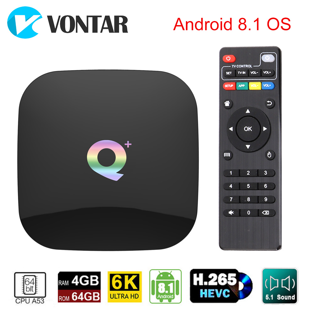 Smart Android 8,1 ТВ коробка 4 ГБ 32 ГБ, 64 ГБ ТВ Box Allwinner H6 4 ядра 6 K H.265 USD3.0 2,4 ГГц Wi-Fi Google Play Youtube телеприставке