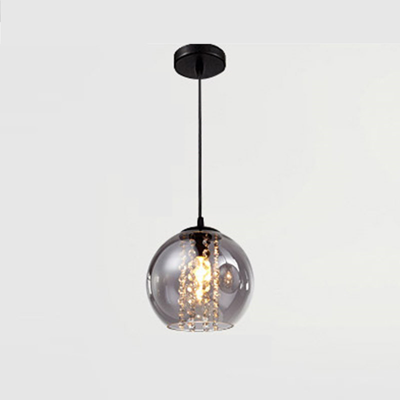 Europe pendant light crystal metal colorful Glass Mirror Ball LED indoor lamp bar shop ceiling hanging decoration light fixture fashion led bulb glass ball pendant chandelier colorful diy art colorful ball ceiling lamp lantern fixture