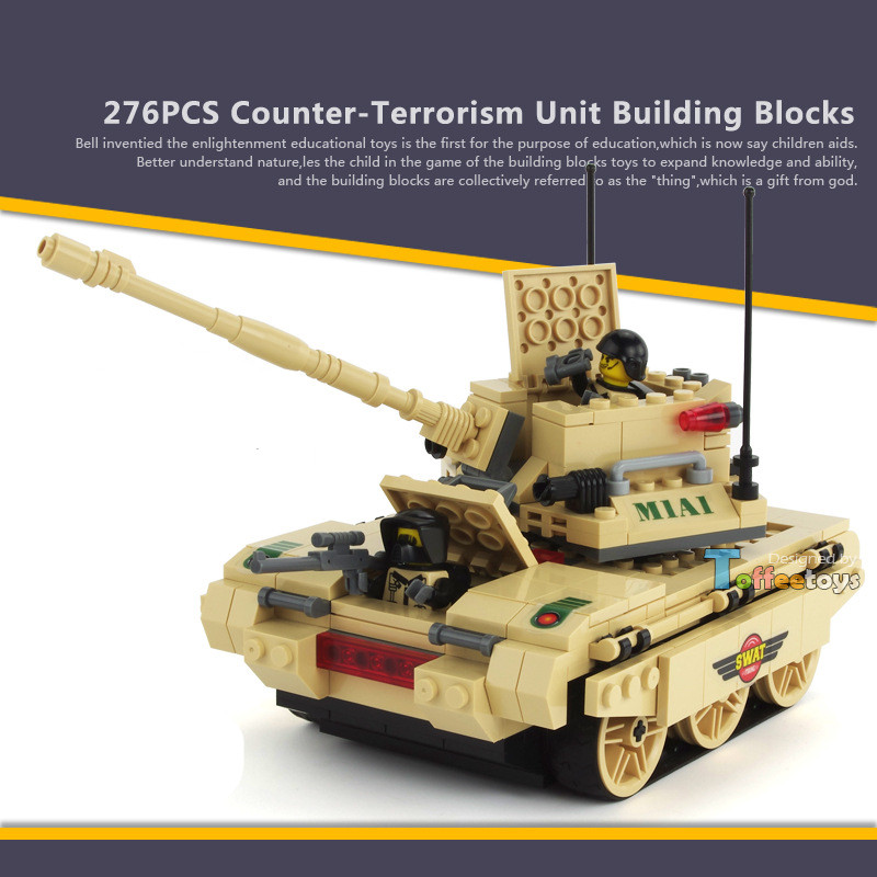 276pcs M1A1 Abrams Tank MILITARY Soldiers SWAT World War 2 Weapon Gun Army Building Blocks Brick figures Toys Children Boys Gift 6pcs swat team city police world war 2 military soldier army special forces building blocks brick figures toys boy gift children