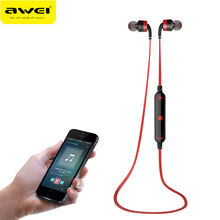 Original AWEI A960BL Bluetooth Earphone With Microphone Stereo Headset Sport Wireless Earbud For iPhone Xiaomi Sony MP3 MP4 PC