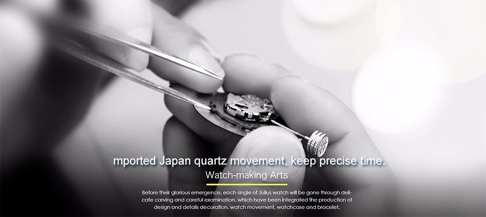 Julius Men Watch Stainless Steel Band Analog Display Quartz Wristwatch (9)