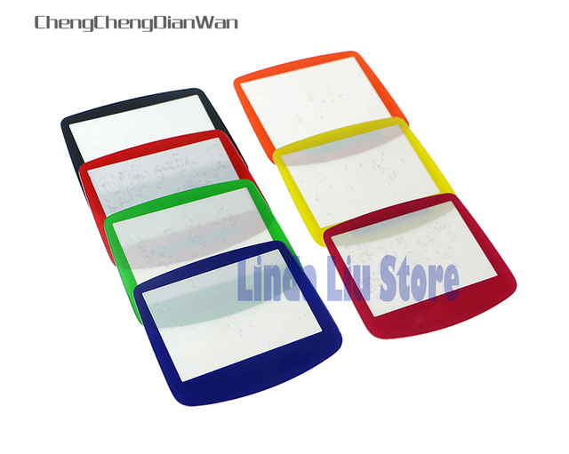 ChengChengDianWan 7 colors For GBA System Replacement Protective plastic Screen Lens Protector 10pcs/lot