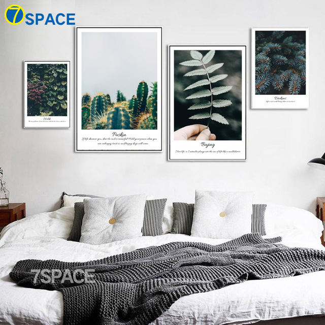 Perfekt Grüne Blätter Kaktus Zitate Landschaft Wand Kunst Leinwand Malerei  Nordic Poster Und Drucke Wand Bilder