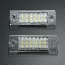 2x номерной знак свет лампы 18-LED для VW Caddy Transporter Passat Гольф Touran Jetta для Skoda без ошибка