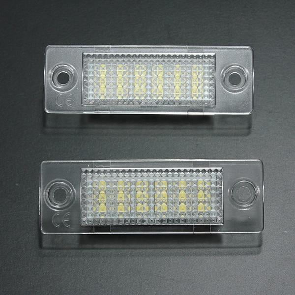 2x Nombre de Plaque D'immatriculation Lampe 18-LED Pour VW Caddy Transporteur Passat Golf Touran Jetta Pour Skoda Aucune Erreur