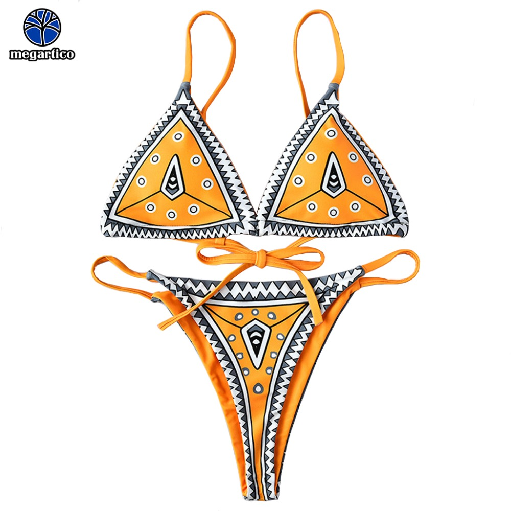 new arrival bikinis women's 2019 women string bikiny micro bikini 2019 low waist retro swimsuit female triangle bikini thong 1