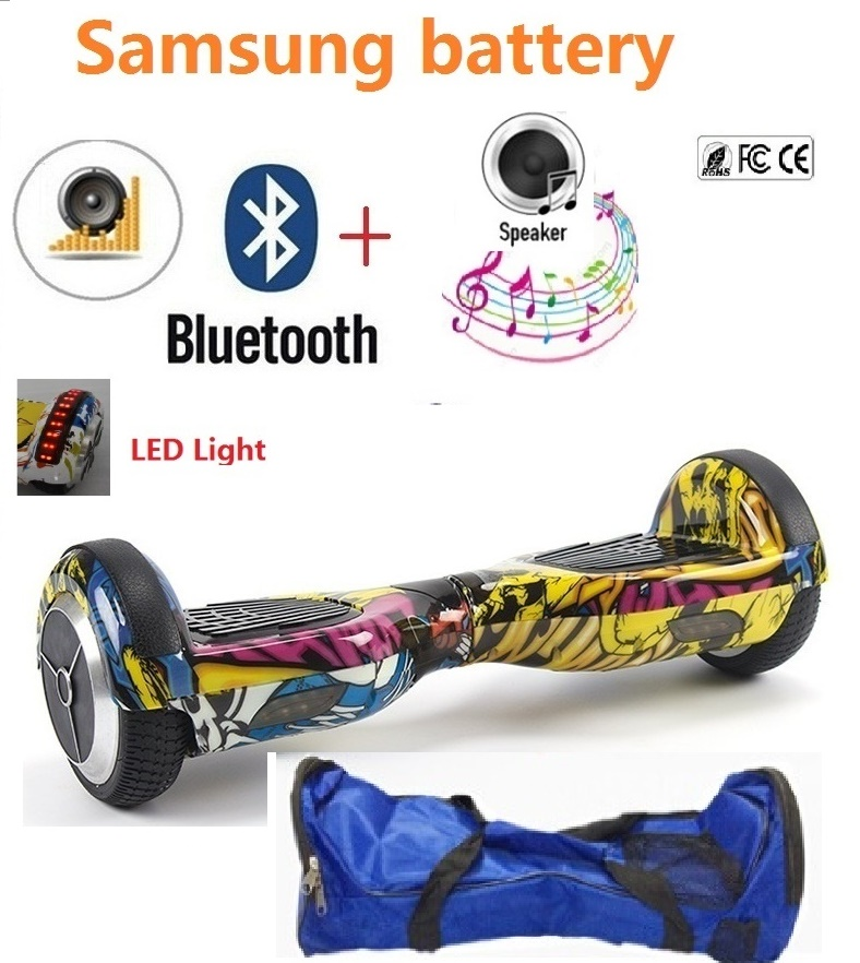 Self balancing scooter giroskuter waveboard hoover board 2 wheel skateboard adult electric scooter balance scooter overboard 4 wheel electric skateboard single driver motor small fish plate wireless remote control longboard waveboard 15km h 120kg