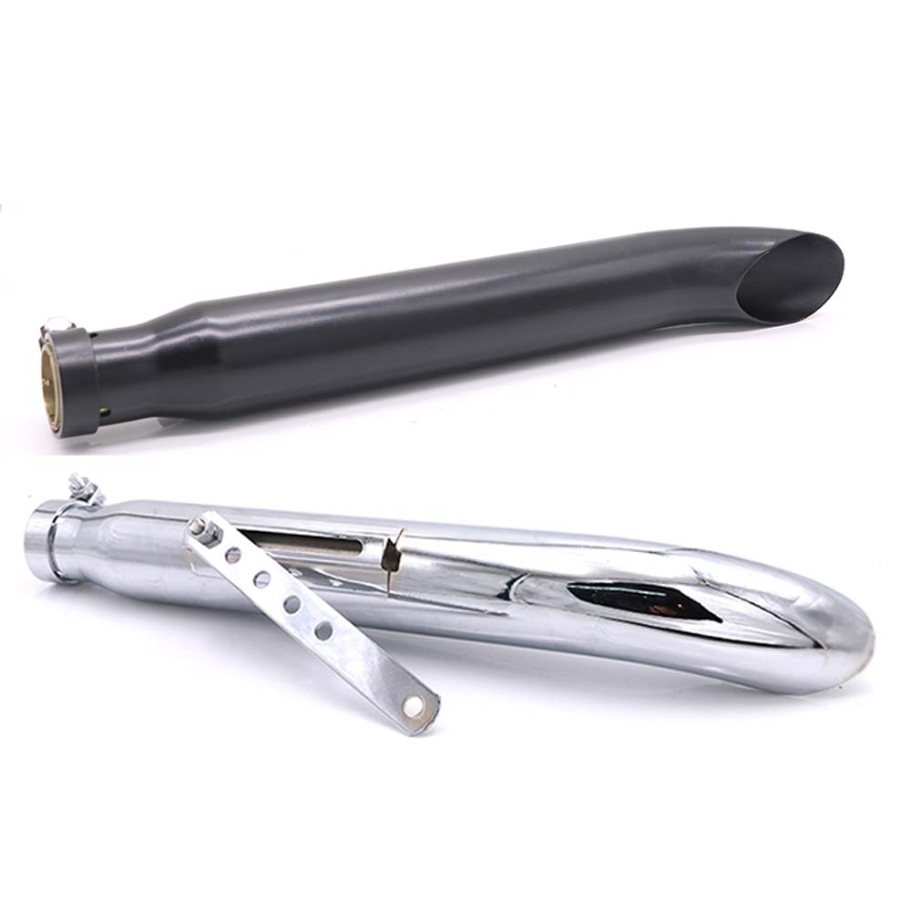 Retro Motorcycle Exhaust Pipe Muffler Stainless Steel 35-45mm for Harley sportster Yamaha xs650 twin Kawasaki Ninja 500  Retro Motorcycle Exhaust Pipe Muffler Stainless Steel 35-45mm for Harley sportster Yamaha xs650 twin Kawasaki Ninja 500