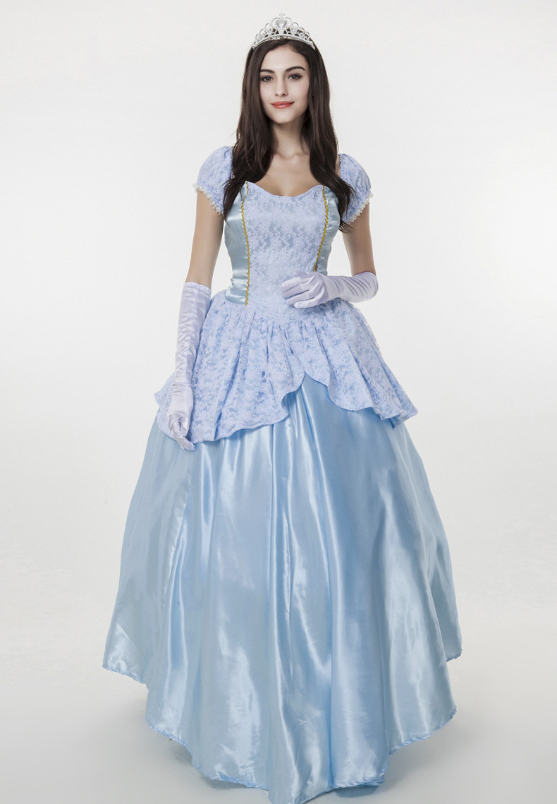 European palace dress costumes queen long dress Halloween snow white fantasia adulto princess costumes for adults cosplay women