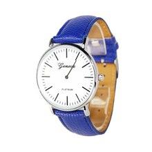 Здесь можно купить   New women watches brand Geneva Roman numerals hour hand show quartz watch high quality leather strap leisure fashion dial Quartz Wristwatches