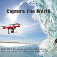 New 2 4G Altitude Hold HD Camera Quadcopter RC Drone 2MP WiFi FPV Live Helicopter Hover
