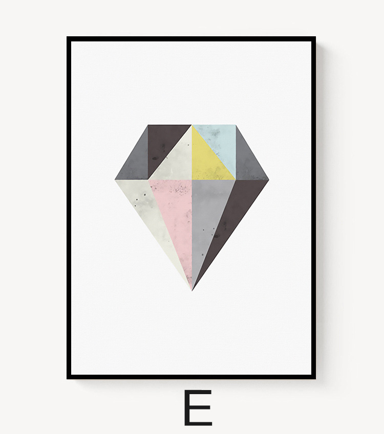 Online Shop HAOCHU Abstract Geometry Triangular Graphs Art Canvas Painting  Nordic Living Room Home Wall Decor Poster Frameless   Aliexpress Mobile