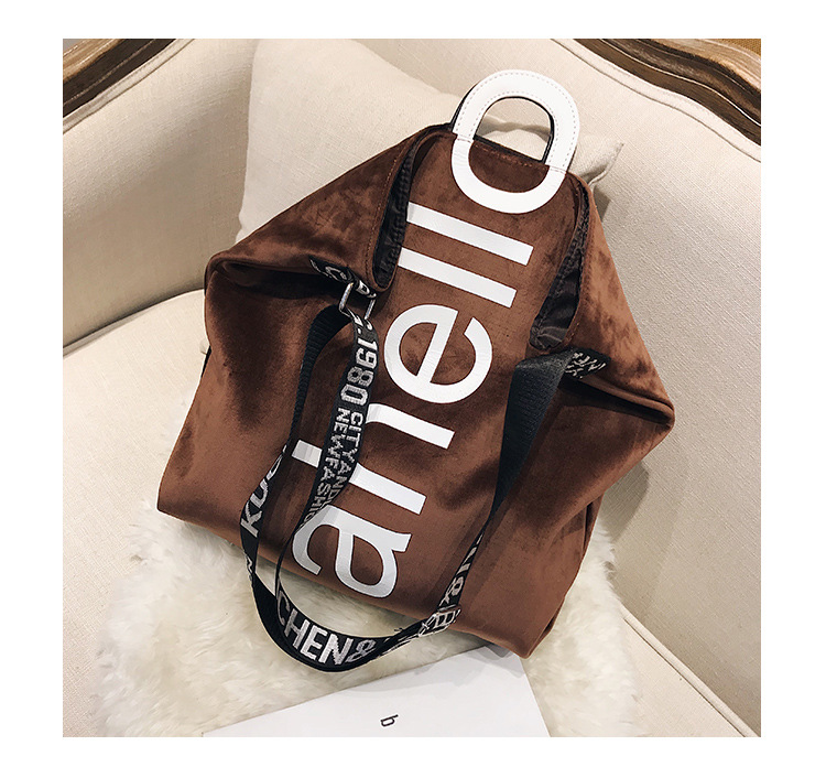 HTB1l80QXtzvK1RkSnfoq6zMwVXaO - New Large-capacity Velvet Handbag Fashion Lady Letter Shoulder Crossbody Bag High Quality Women's Shopping Bag Tote