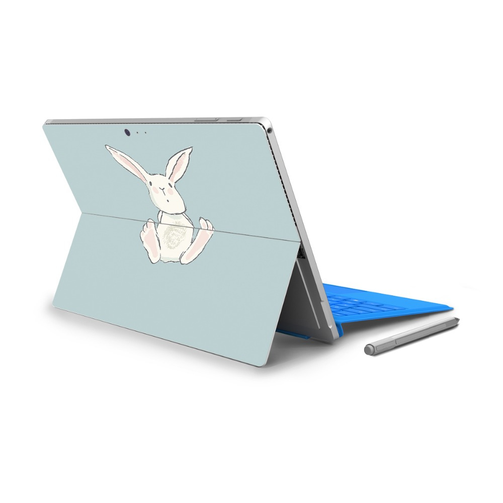 YCSTICKER - For Surface Pro 4 Vinyl Back Full Decal Tablet Painting Sticker Rabbit Print ...