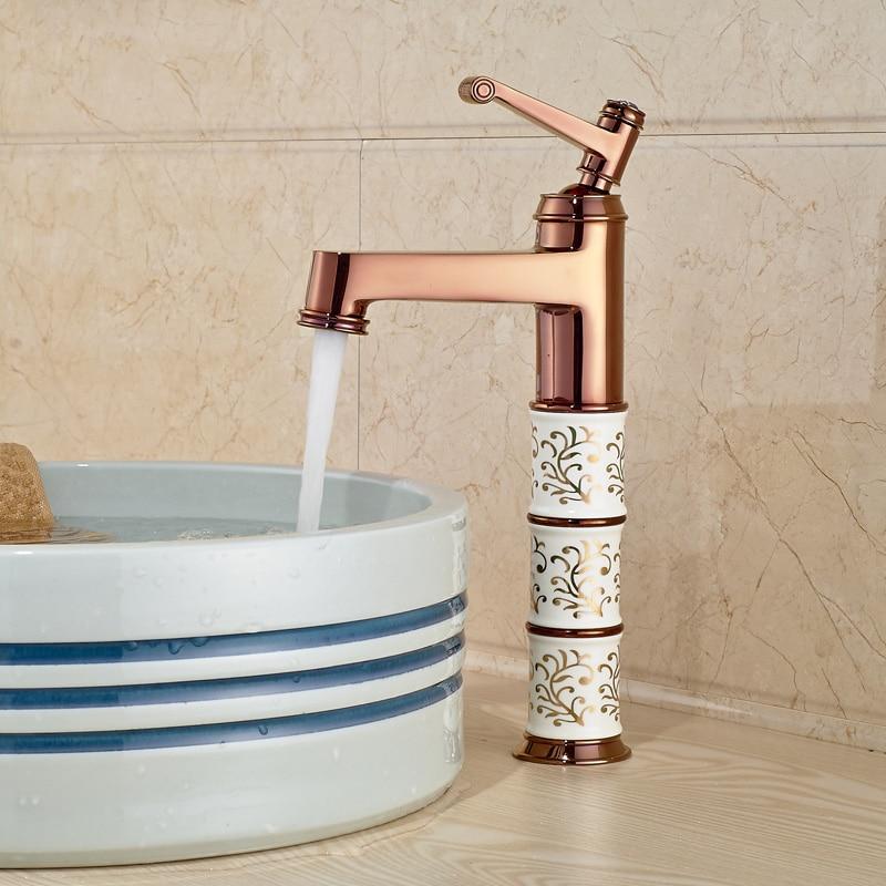 Rose Golden Ceramics Brass Basin Vanity Sink Faucet Bathroom Basin Mixer Tap Hot/Cold лаки для ногтей golden rose лак golden rose rich color тон 156