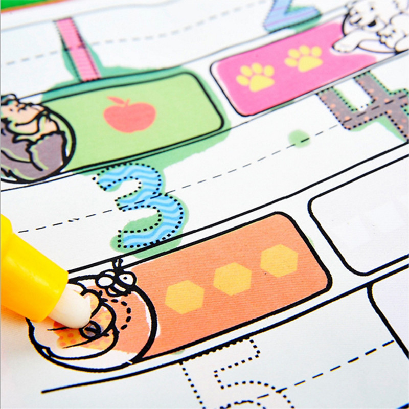 new children kids water drawing book with 1 magic pen children digital coloring book water painting board coloring book for kids - Children Drawing Books