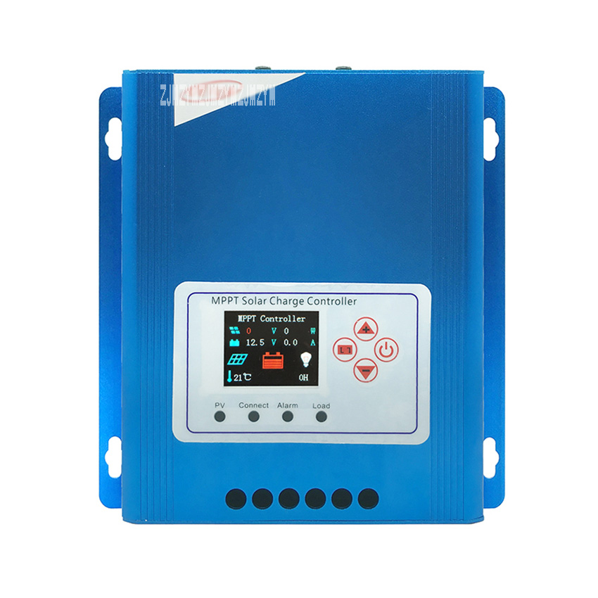 New CPE 48030 12V/24V/48V 30A Full Color LCD Screen Display Aluminum Alloy Shell MPPT Tracking Efficiency Solar Panel Controller