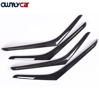 4pcs ABS Dark Wood Grain Interior Door Decotation Strips Trim For Mercedes benz W222 S Class S320 2014-2017 Car-styling