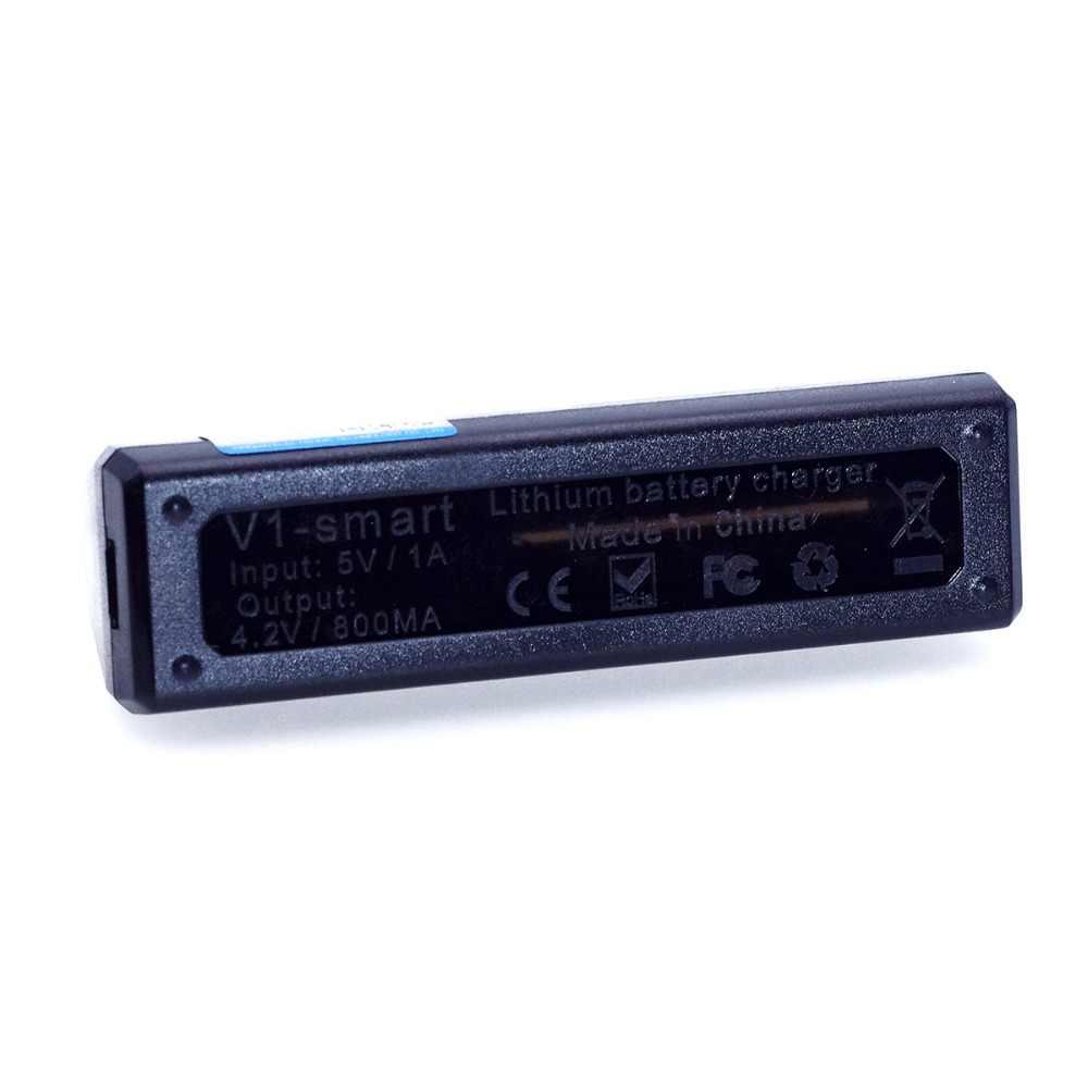 VariCore V1 المحمولة واحدة فتحة 18650 شاحن بطارية ل 26650 21700 18650 26650 18500 16340 14500 18350 بطارية ليثيوم