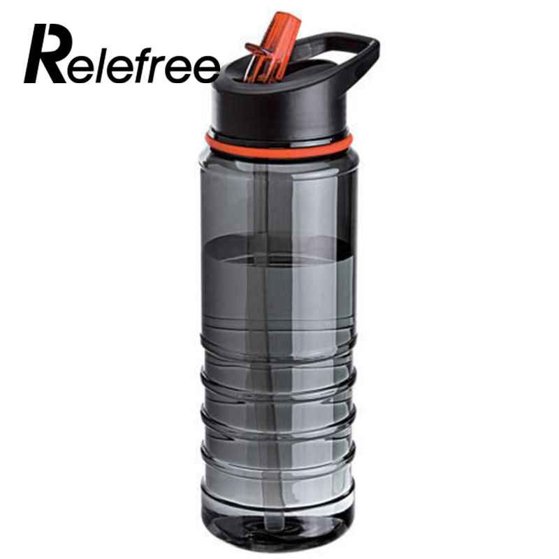 ab2e6490bd3 relefree 750ML Flip Tritan Straw Water Bottle Drinks Sport Gym Hydration  Bike Nature Hike Camping High